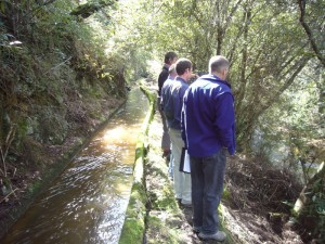 CVA Team assessing the trail at the water race & Brid River, Bridport Tasmania