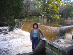 Brid River weir, Bridport Tasmania