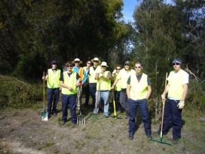 Ground breaking crew, Bridport Walking Track