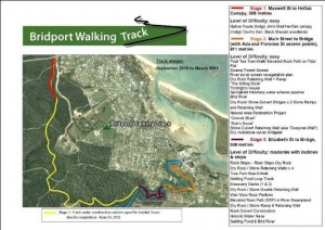 Bridport Walking Track Construction Stages