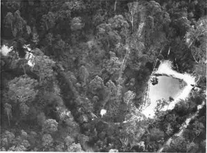aerial view settling pond 1962