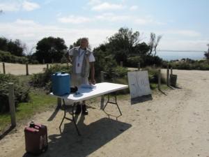 Granite Point checkpoint, 7 km mark